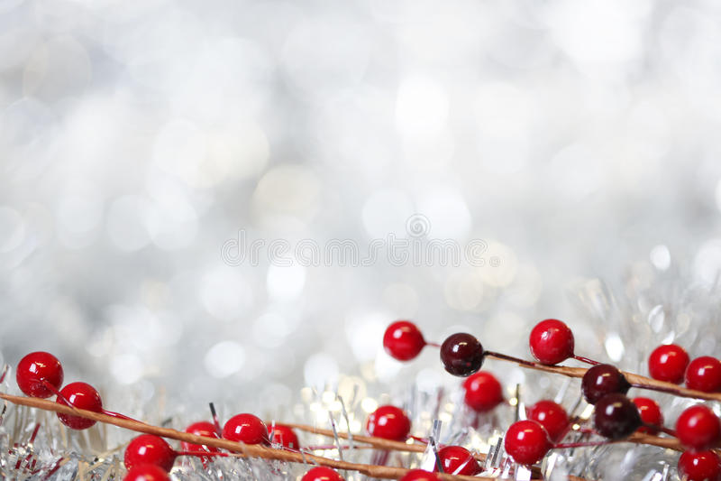 De zilveren achtergrond van Kerstmis stock afbeelding