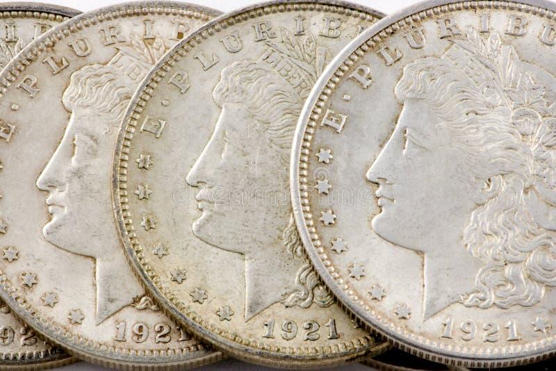 De zilveren dollar van Morgan royalty-vrije stock foto
