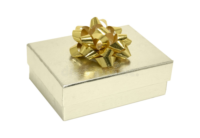 De zilveren Doos van de Gift stock afbeelding