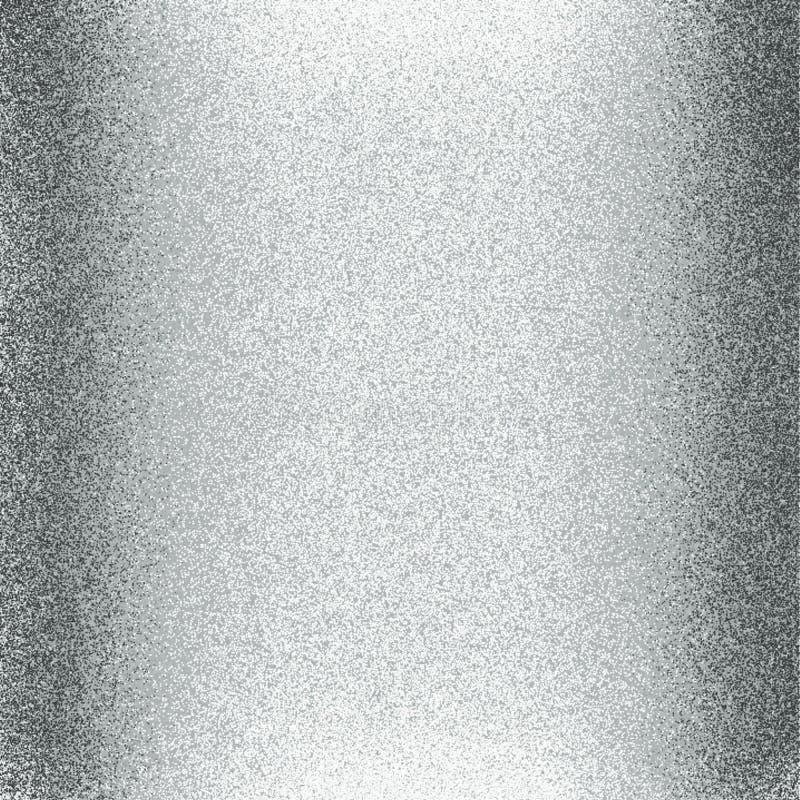 De zilveren glanzend en kleur die schittert document met licht en 3 D effect computer geproduceerd achtergrondafbeelding en behan vector illustratie