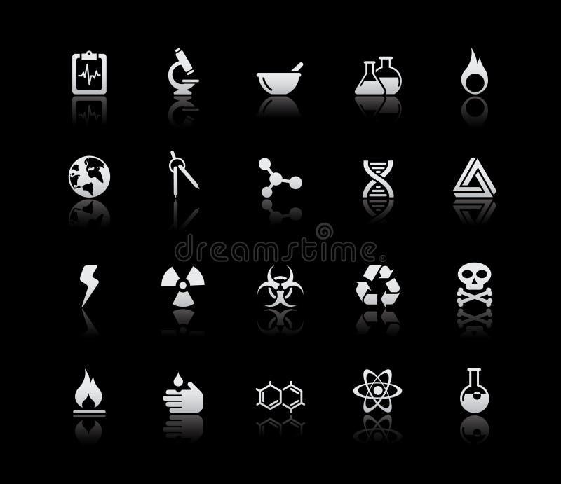 De Zilveren Reeks van // van de wetenschap vector illustratie