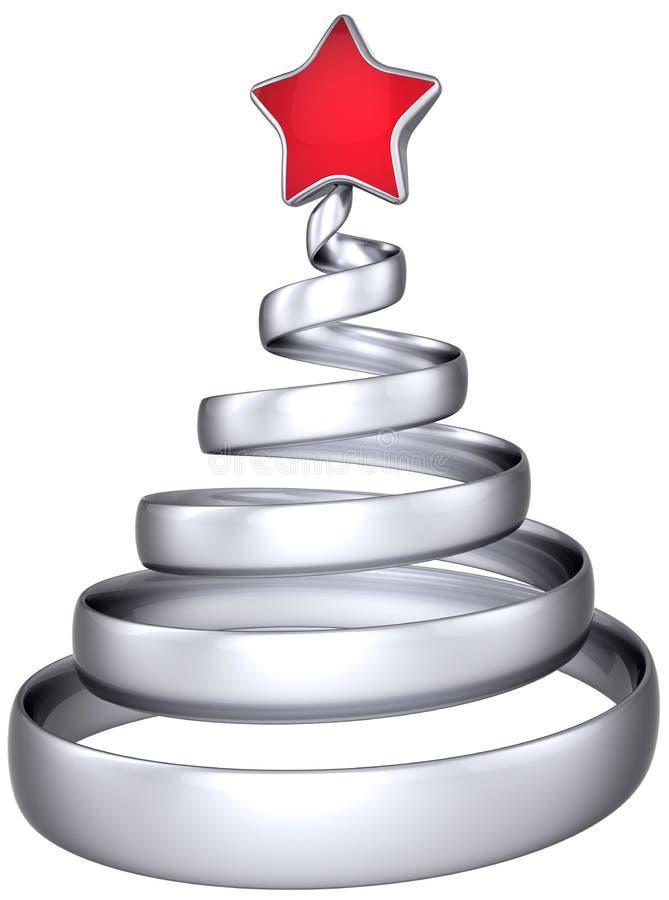 De zilveren samenvatting van de Kerstboom vector illustratie