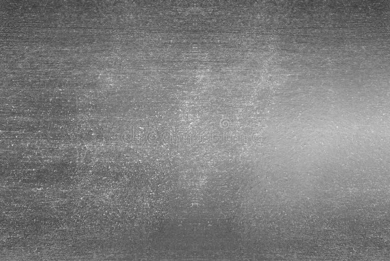 De zilveren stevige zwarte achtergrond van het bladmetaal royalty-vrije stock foto