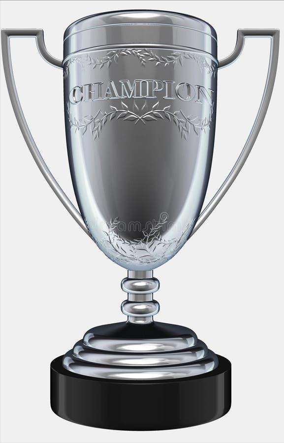 De zilveren trofee van de kampioen vector illustratie