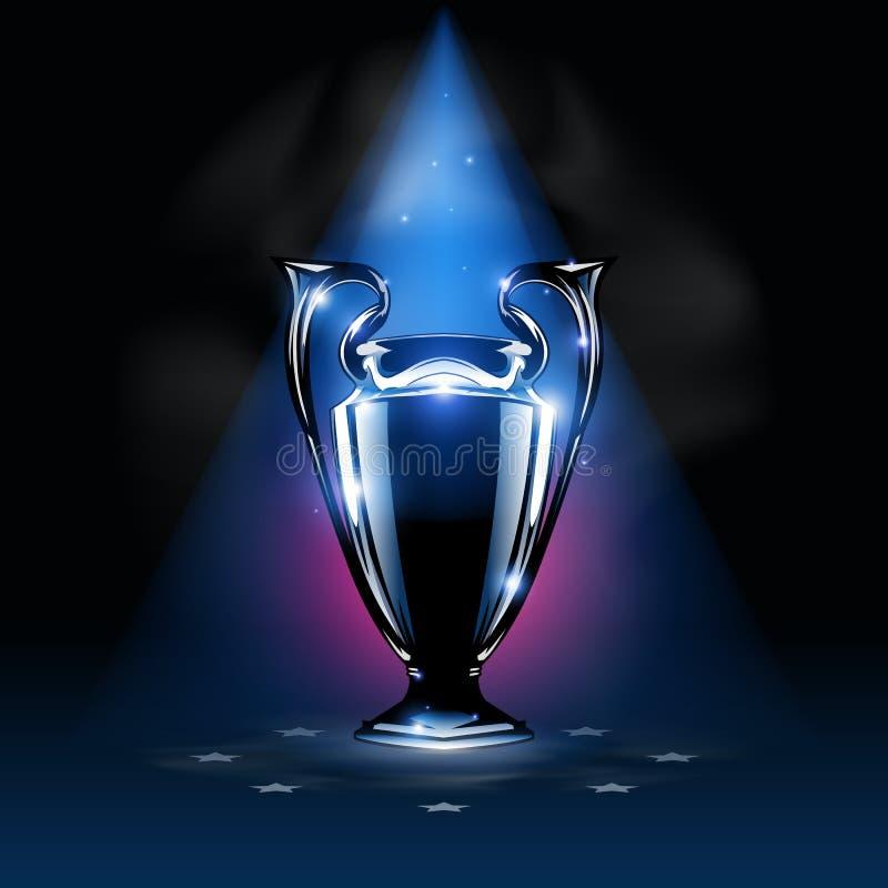 De zilveren trofee van de kampioenenwinnaar vector illustratie