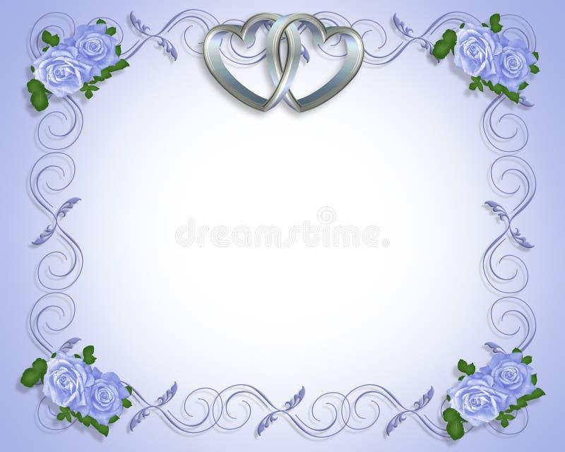 De zilveren Uitnodiging van het Huwelijk van Harten vector illustratie