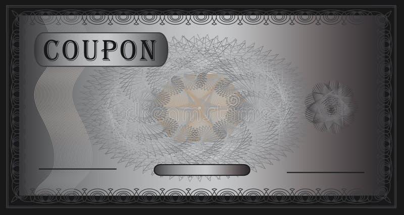 De zilveren Zwarte van de coupon royalty-vrije illustratie