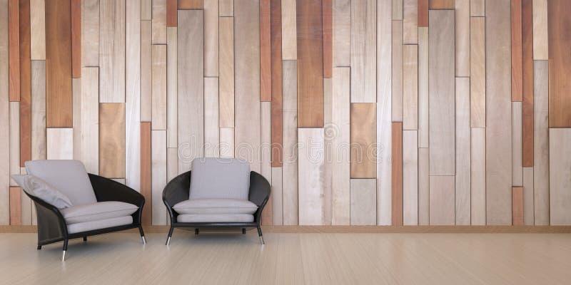 De zitkamer en een koffie winkelen en ontspannen hoek Certificatiezaal en het Leven gebieden royalty-vrije stock afbeelding