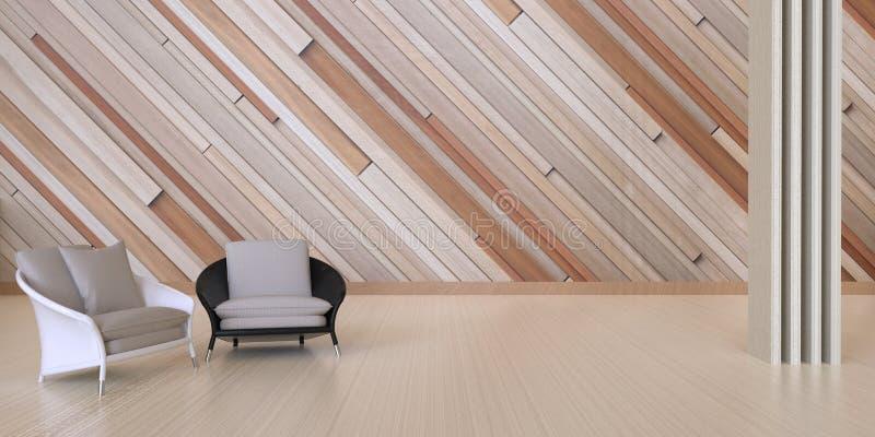 De zitkamer en een koffie winkelen en ontspannen op muurhout/Certificatiezaal stock fotografie