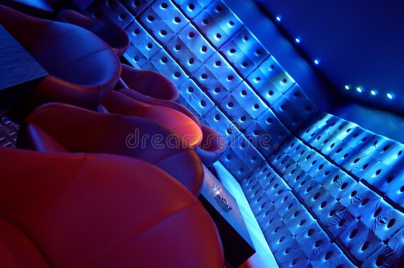 De zitkamer van de nachtclub stock foto's