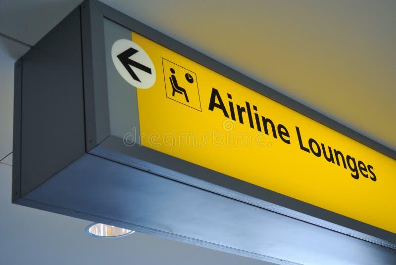 De zitkamerteken van de luchtvaartlijn royalty-vrije stock afbeelding