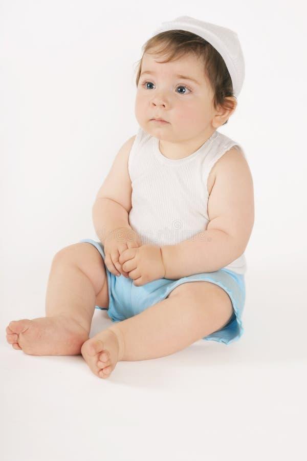 De Zitting van de baby stock fotografie