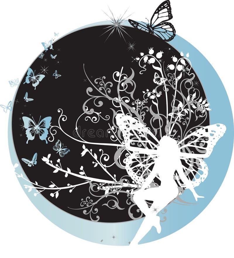 De Zitting van de fee op Halve maan royalty-vrije illustratie