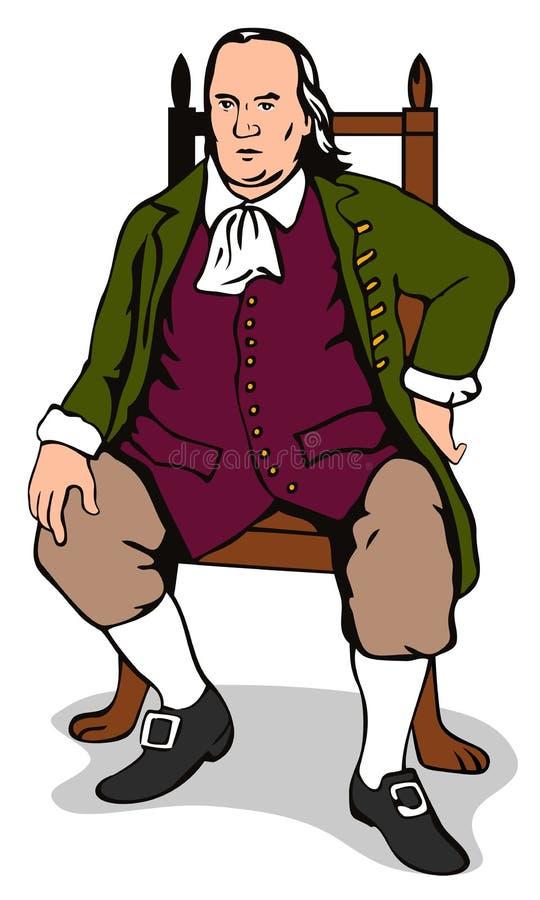 De zitting van de heer op een stoel royalty-vrije illustratie