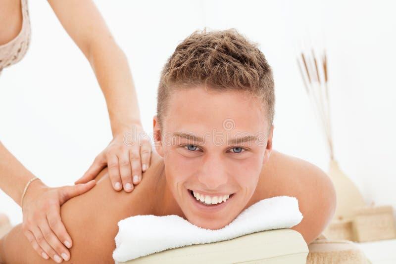 Download De zitting van de massage stock foto. Afbeelding bestaande uit nude - 10782884
