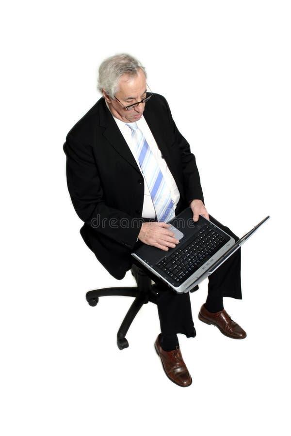 De zitting van de zakenman royalty-vrije stock foto's