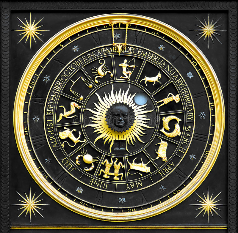 Or de zodiaque photographie stock