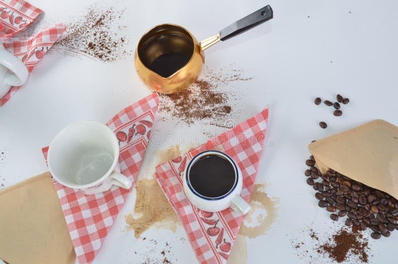 De zoete dromen worden gemaakt van koffie royalty-vrije stock foto's