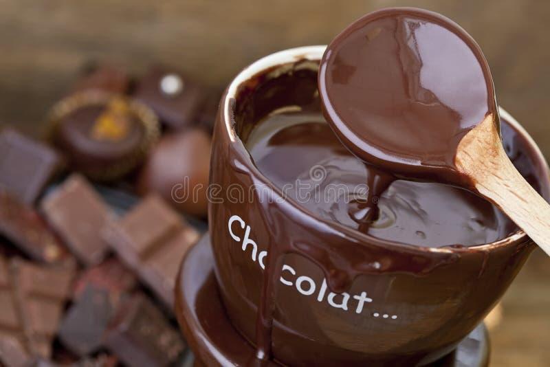 De zoete Fondue van de Zonde Hete Chocolade royalty-vrije stock foto