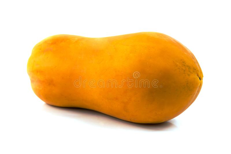 De zoete halve besnoeiing van het papajafruit stock afbeelding