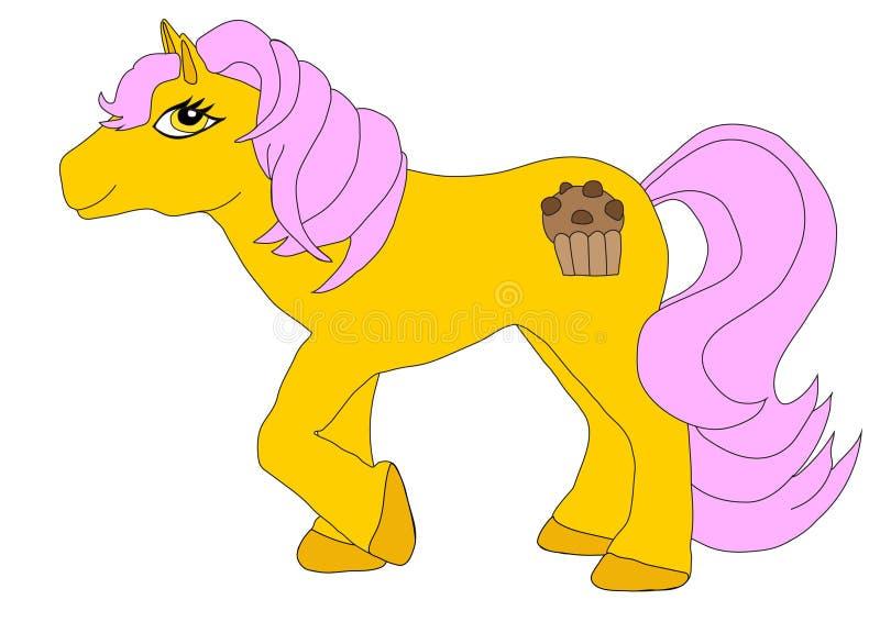 De zoete Muffin van de Aardbeichocolade royalty-vrije illustratie