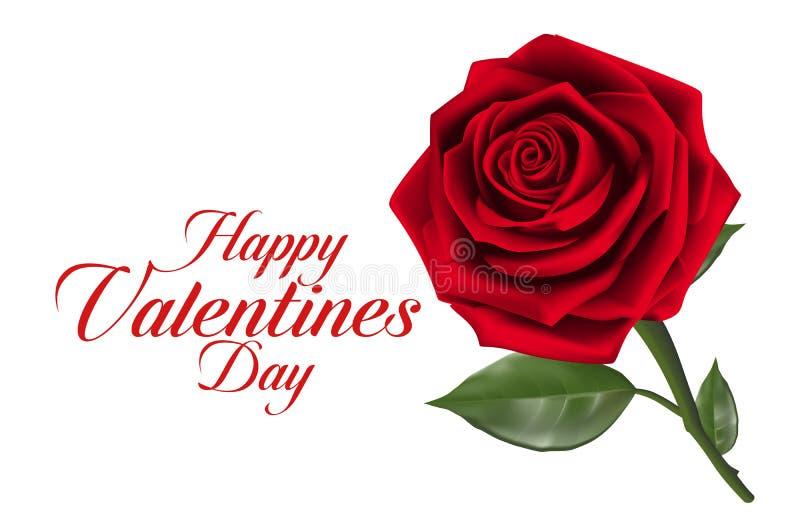 De Zoete Rode Rozen van de valentijnskaartendag royalty-vrije illustratie