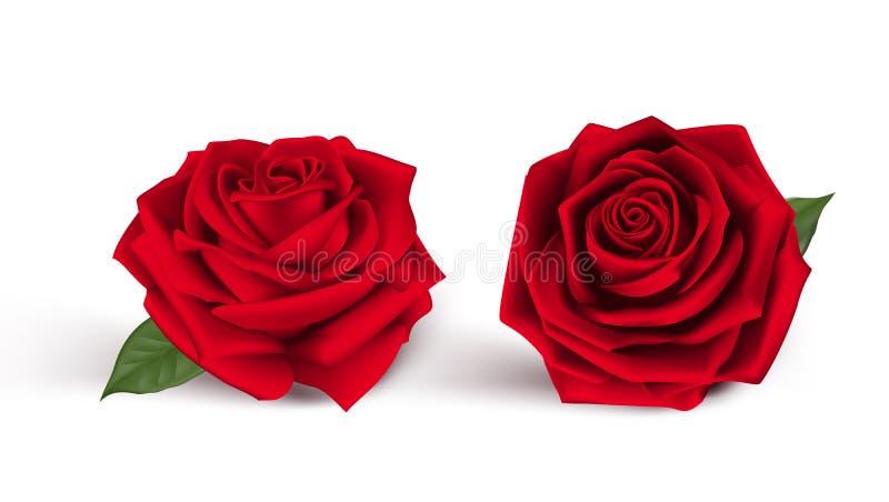 De Zoete Rode Rozen van de valentijnskaartendag vector illustratie