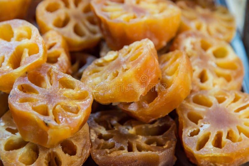 De zoete wortel van Lotus of de wortel van de Waterlelie royalty-vrije stock afbeelding