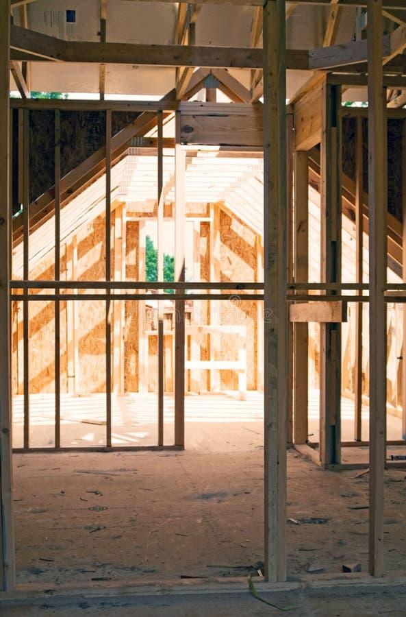 Zoldergebied/Huisbouw stock foto