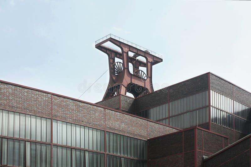 ` De Zollverein do ` da mina de carvão de Zeche Zollverein em Essen, Alemanha fotografia de stock royalty free