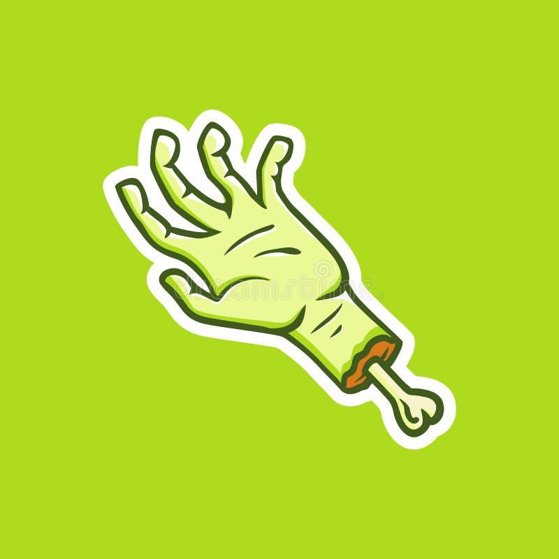 De zombie dient de vorm van een sticker in vector illustratie