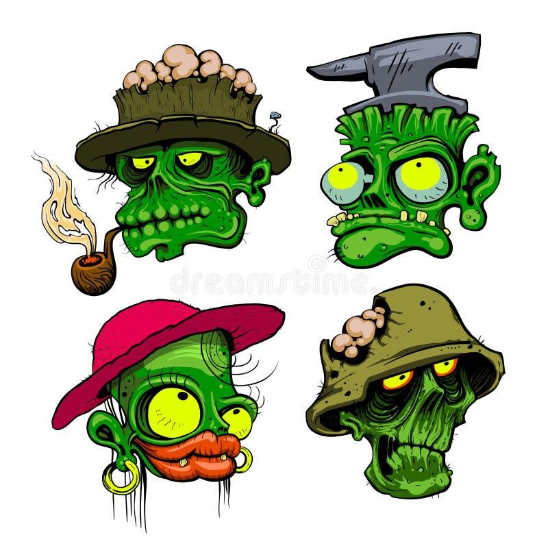 De zombie leidt illustratie stock illustratie