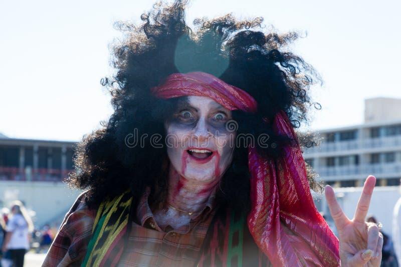 De Zombiegang 2015 van het Asburypark stock afbeeldingen