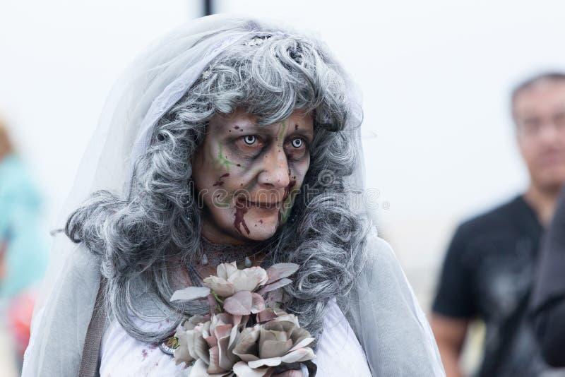 De Zombiegang 2016 van New Jersey stock afbeelding