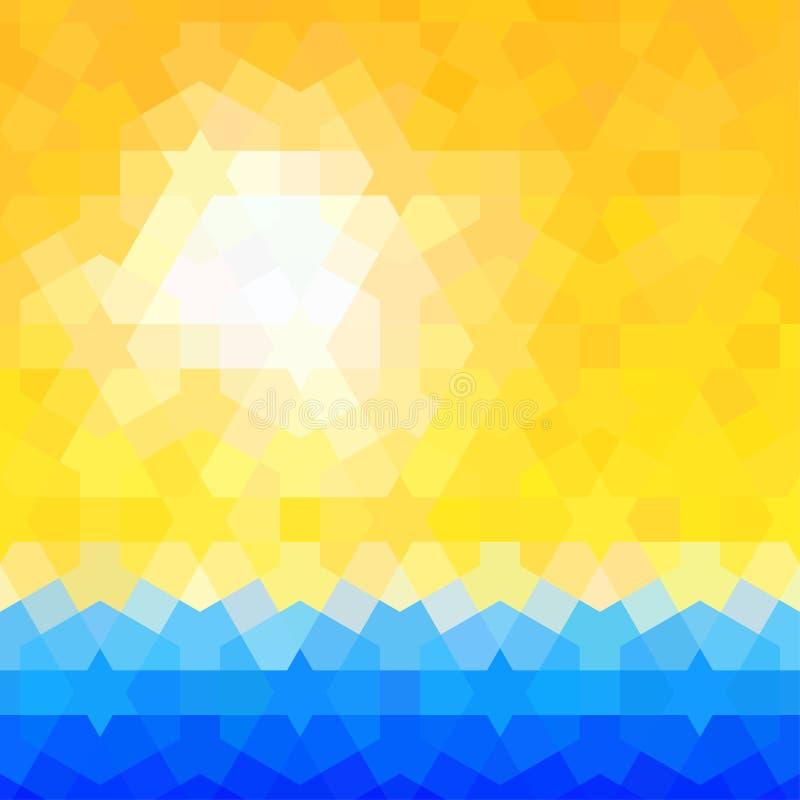 De zomer als thema gehade achtergrond met klassiek Arabisch vector illustratie