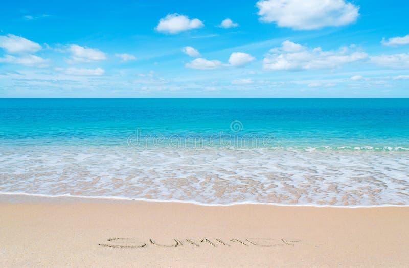 De zomer bij paradijs royalty-vrije stock afbeeldingen
