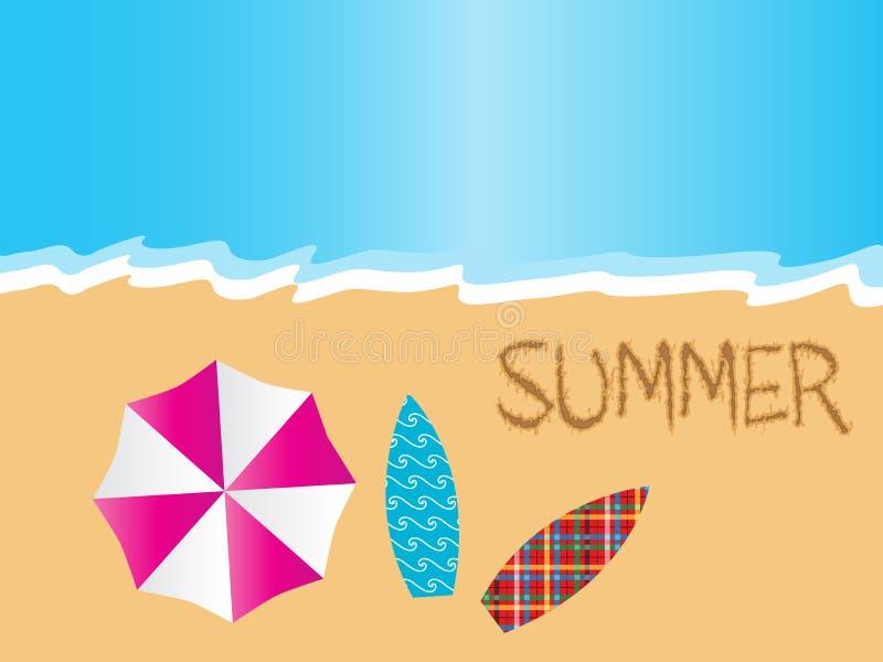 De zomer bij strand stock illustratie