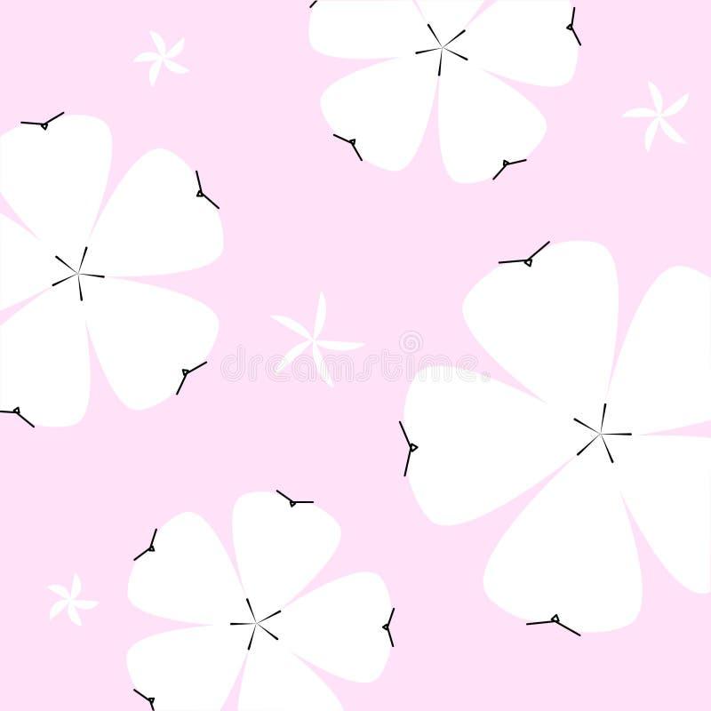 de zomer bloemenpatroon op roze achtergrond royalty-vrije stock foto's