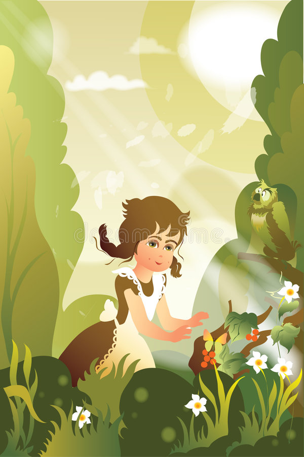 de zomer bos stock illustratie