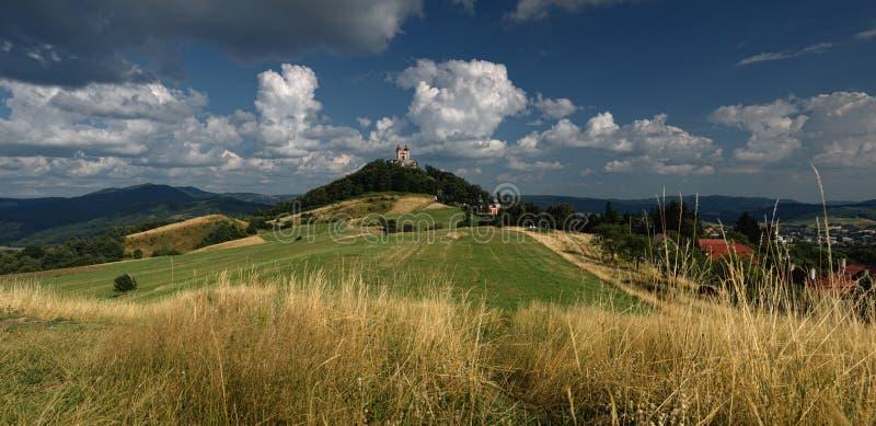 De zomer Calvary in Banska Stiavnica, Slowakije stock afbeelding