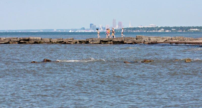 De zomer in Cleveland Ohio stock fotografie