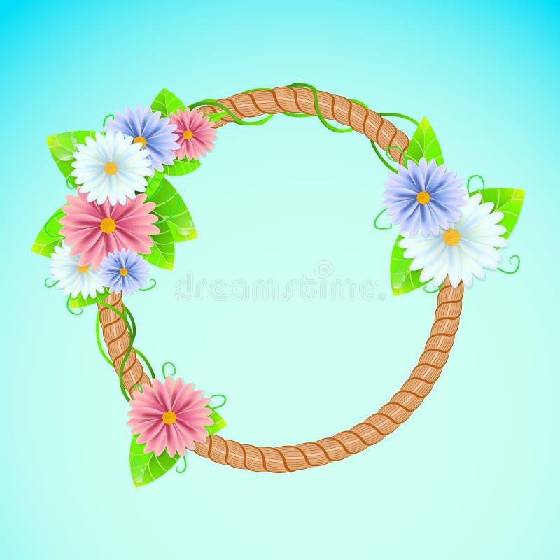 Download De Zomer Of De Lentekader Met Bloemen Stock Illustratie - Illustratie bestaande uit licht, achtergrond: 54086129