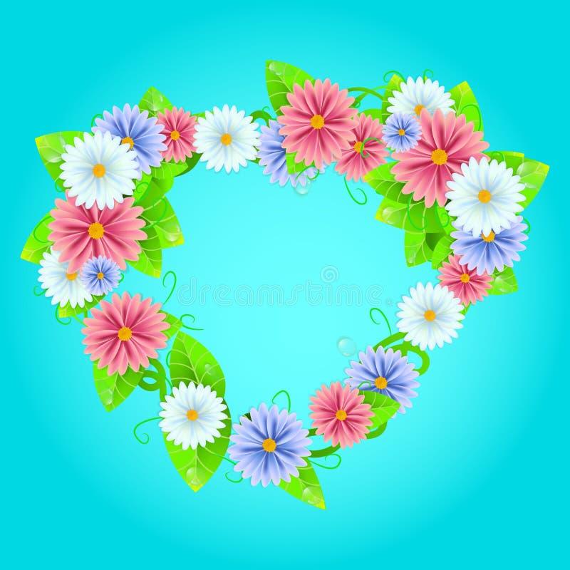 Download De Zomer Of De Lentekader Met Bloemen Stock Illustratie - Illustratie bestaande uit mooi, growth: 54086237