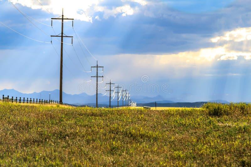 De zomer dichtbij Okotoks stock afbeelding