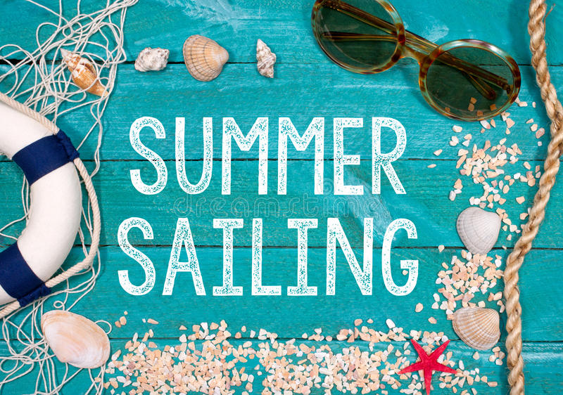 De zomer die - Vakantie bij het Strand varen stock fotografie