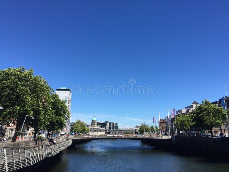 De zomer in Dublin royalty-vrije stock foto's