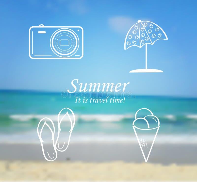 De zomer en reisreeks pictogrammen - wipschakelaars vector illustratie
