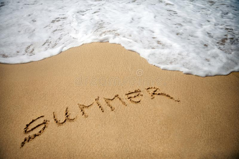 De zomer en Strand stock afbeelding