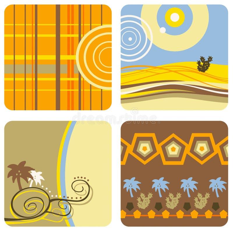 De zomer en woestijn royalty-vrije illustratie