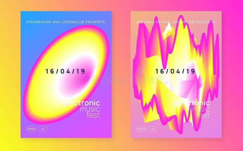 De zomer fest vlieger en muziekaffiche vector illustratie